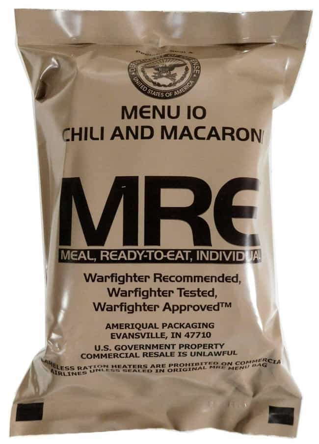 Chili & Macaroni (ChiliMac) is listed (or ranked) 1 on the list MREs That Taste Better (Or Worse) Than You Might Think