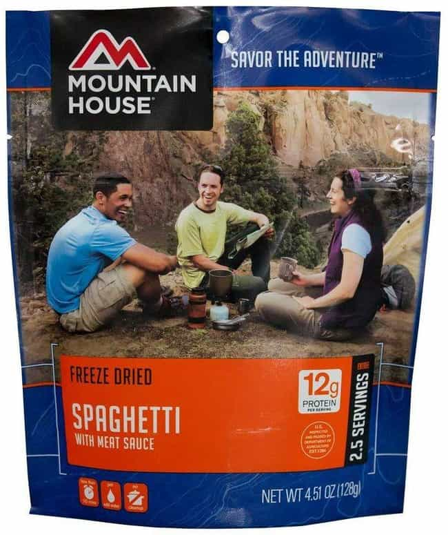 Mountain House Spaghetti With ... is listed (or ranked) 1 on the list The Best Ready-Made Meals to Pack Before Your Next Trip