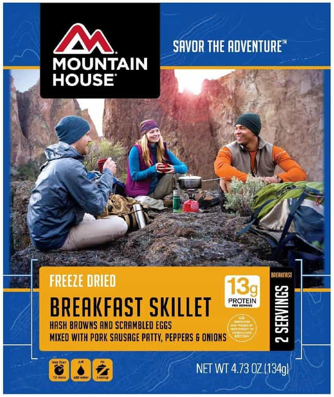 Mountain House Breakfast Skill... is listed (or ranked) 4 on the list The Best Ready-Made Meals to Pack Before Your Next Trip
