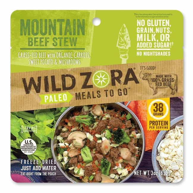 Wild Zora - Mountain Beef Stew is listed (or ranked) 3 on the list The Best Ready-Made Meals to Pack Before Your Next Trip