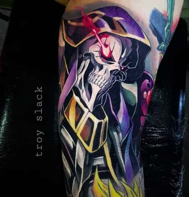 Check Out The Details On This Ainz Ooal Gown Tattoo