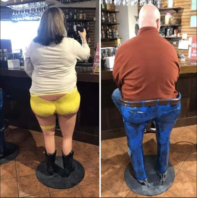 Gender-Normative Barstools is listed (or ranked) 26 on the list 29 Disastrous Interior Design Decisions