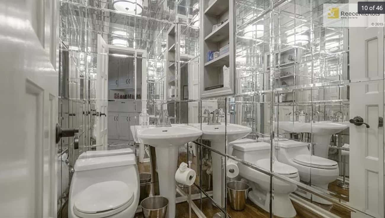 Too Many Mirrors is listed (or ranked) 3 on the list 29 Disastrous Interior Design Decisions