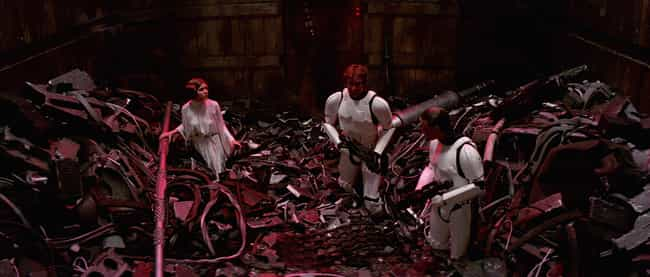 Use The Recyclable Trash To Bu... is listed (or ranked) 3 on the list How To Survive The Trash Compactor Scene In 'Star Wars'