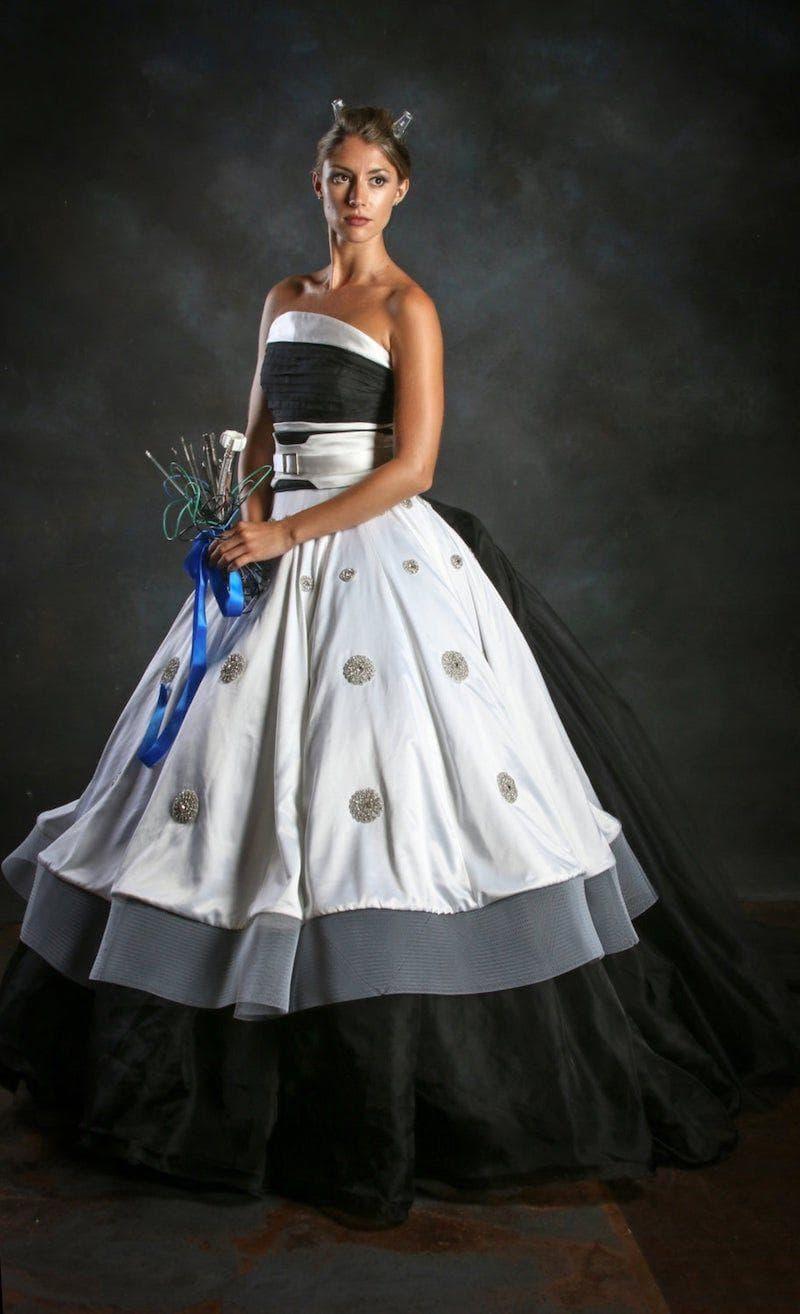 The Supreme Dalek Dress on Random Best Nerd-Inspired Wedding Dresses