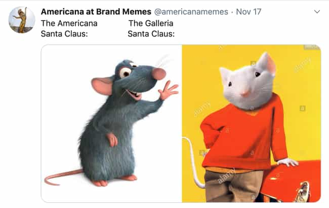 One Is A Better Rodent is listed (or ranked) 2 on the list 27 Memes About One Mall That Only People From LA Will Get