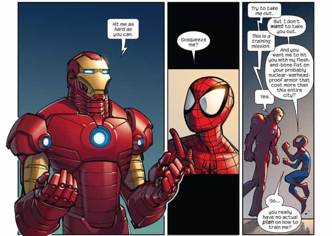 Iron Man Is Tasked With ... is listed (or ranked) 3 on the list Moments From The MCU Spider-Man Movies Ripped Straight From The Comics