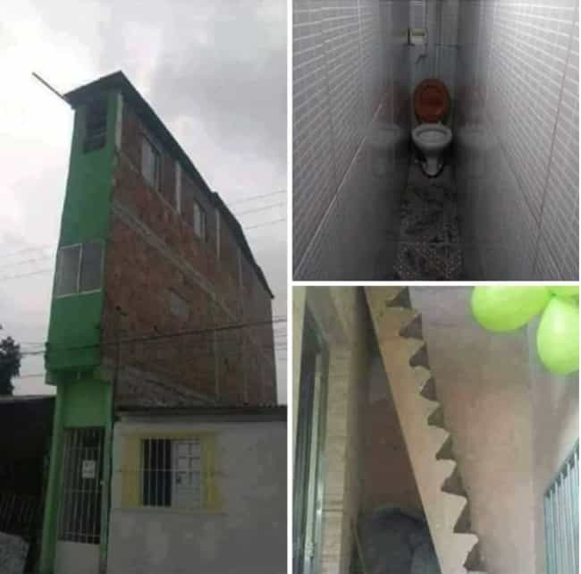 Claustrophobia Tower is listed (or ranked) 4 on the list 33 Hilariously Cursed Images Not For The Faint Of Heart