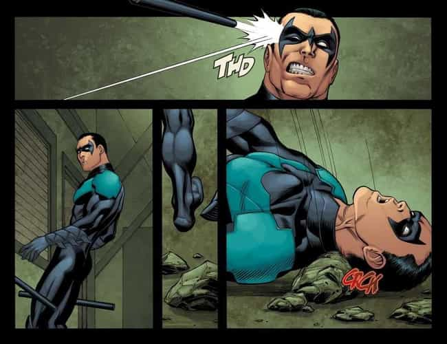 Dick Grayson Fatally Bre... is listed (or ranked) 3 on the list Surprising Moments From The 'Injustice' Series