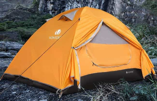 V VONTOX Camping Lightweight B... is listed (or ranked) 4 on the list The Best Cheap Camping Tents That Don't Feel Cheap