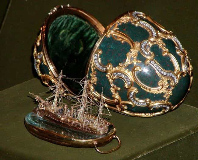 Memory Of Azov (1891) is listed (or ranked) 3 on the list The Most Lavish Fabergé Eggs, Ranked By Decadence