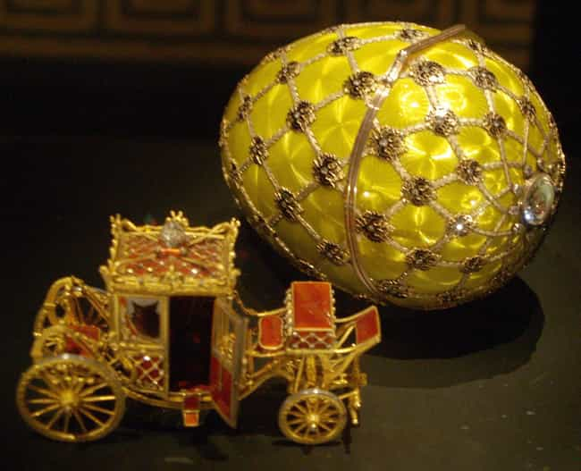 Imperial Coronation (1897) is listed (or ranked) 2 on the list The Most Lavish Fabergé Eggs, Ranked By Decadence
