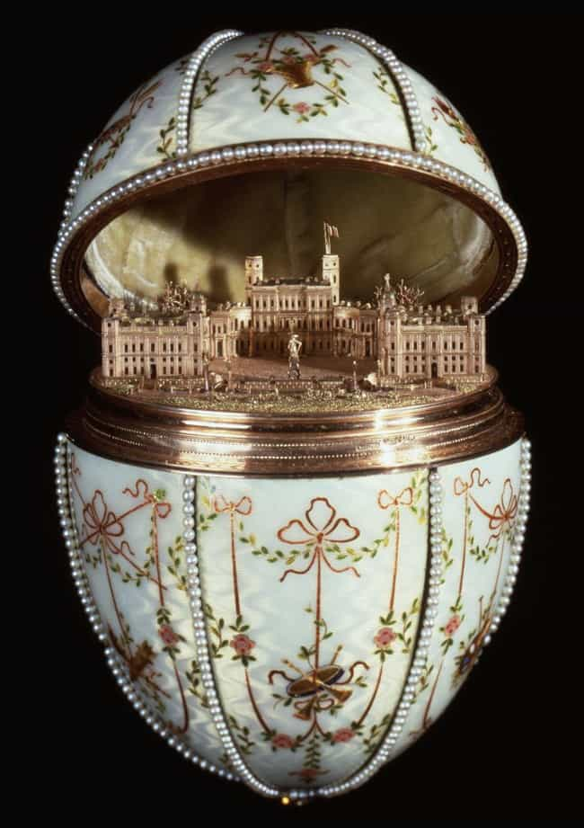 Gatchina Palace (1901) is listed (or ranked) 1 on the list The Most Lavish Fabergé Eggs, Ranked By Decadence
