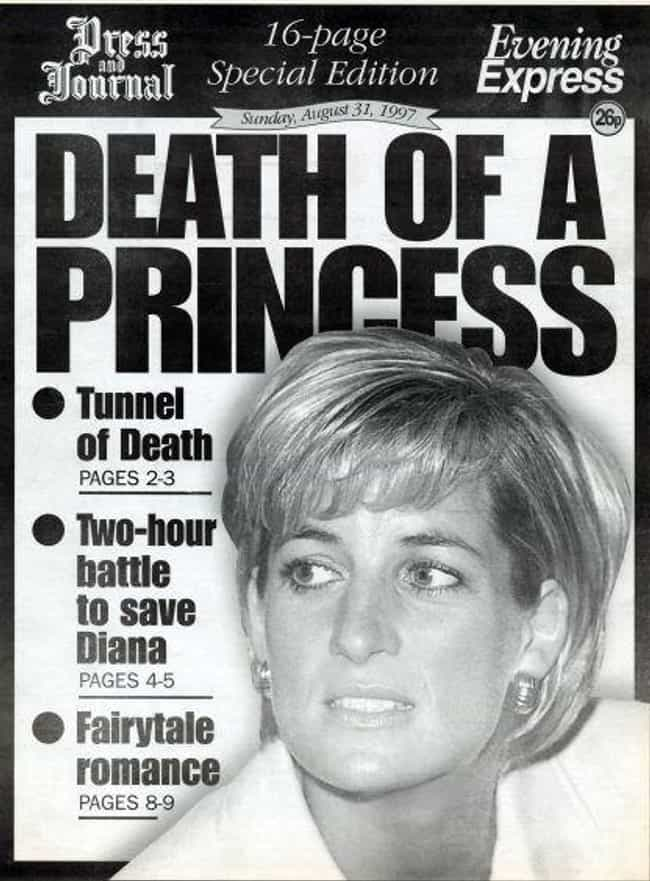 United Kingdom: 'Evening Expre... is listed (or ranked) 1 on the list Here's What Newspapers Around The World Looked Like After Princess Diana's Passing