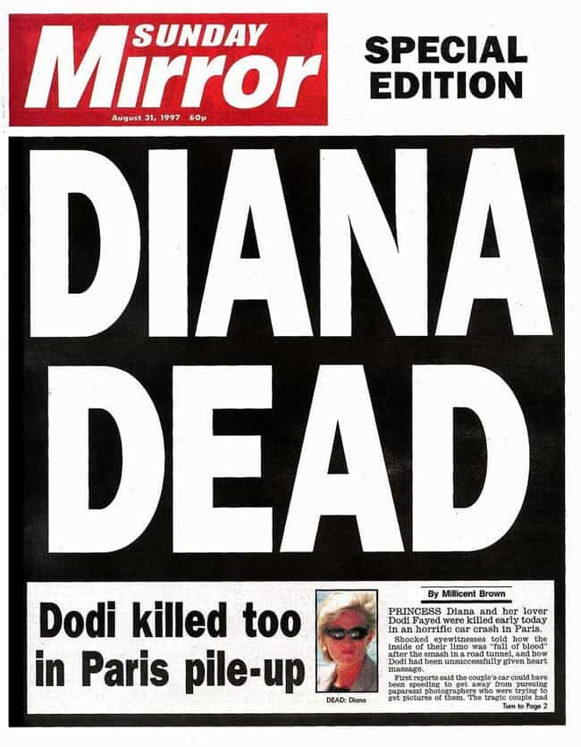 United Kingdom: 'Sunday Mirror... is listed (or ranked) 3 on the list Here's What Newspapers Around The World Looked Like After Princess Diana's Passing