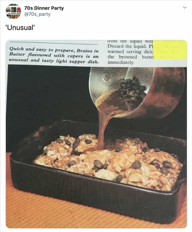 The Cooking Dead is listed (or ranked) 3 on the list 32 Pictures That Prove 1970s Dinner Parties Were Absolute Nightmares