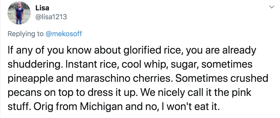 There Are Just Some Ingredients Rice Never Needs To Meet on Random People Are Sharing Gross Side Dishes That Are Traditional At Their Thanksgiving Meals