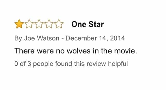 The Wolf of Wall Street ... is listed (or ranked) 4 on the list 23 Unintentionally HilariousOne-Star Amazon Movie Reviews