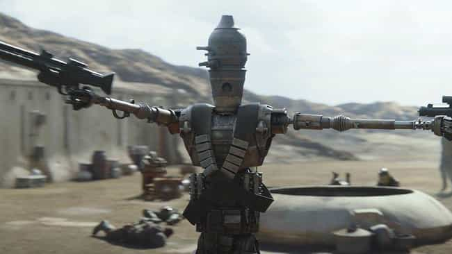 IG-11 is listed (or ranked) 4 on the list The Best Characters On 'The Mandalorian'