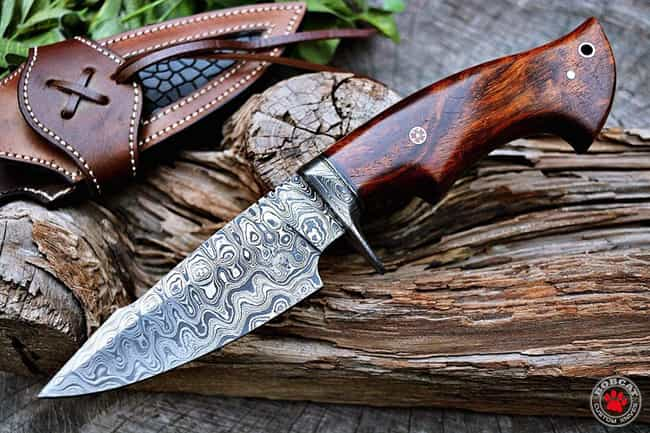 Custom Handmade Hunting Knife ... is listed (or ranked) 2 on the list The Best Hunting Knives