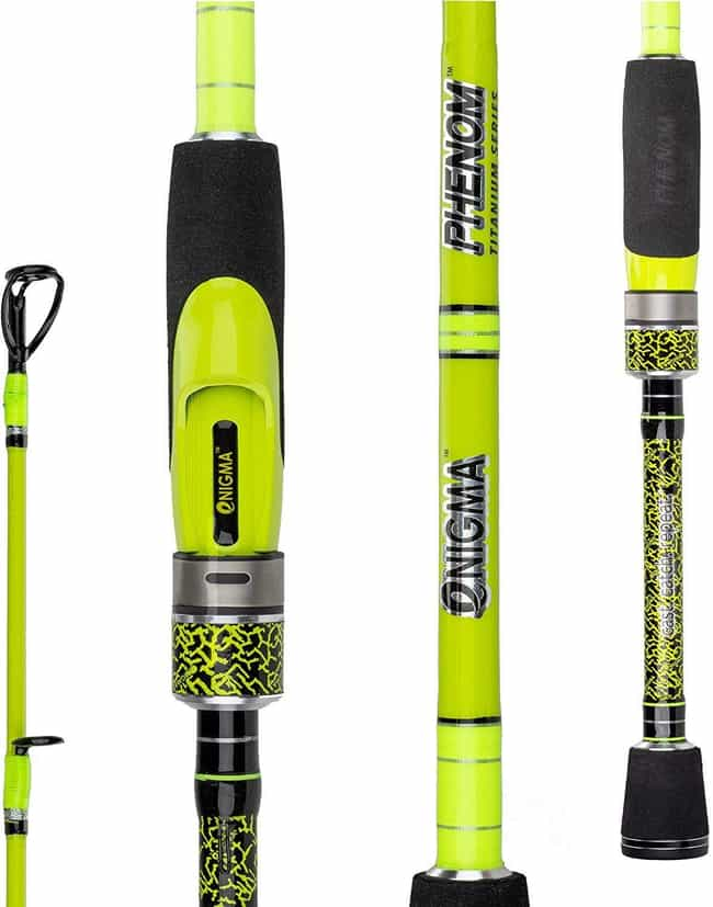 Enigma Fishing Phenom Titanium... is listed (or ranked) 4 on the list The Best Fishing Poles For Beginners
