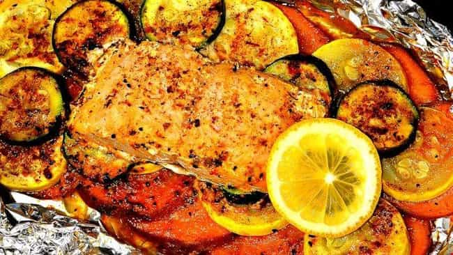 Salmon Foil-Pack Dinner is listed (or ranked) 1 on the list Delicious Foil Packet Dinner Recipes For Everyday Campers