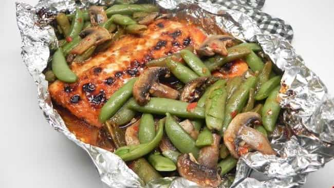 Asian Salmon Foil-Pack Dinner is listed (or ranked) 2 on the list Delicious Foil Packet Dinner Recipes For Everyday Campers