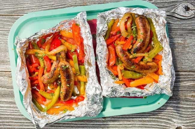 Sausage and Peppers Foil Pack is listed (or ranked) 3 on the list Delicious Foil Packet Dinner Recipes For Everyday Campers
