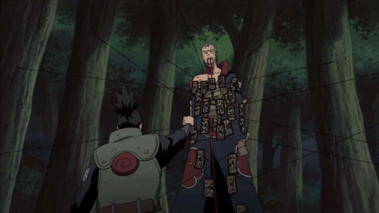 Shikamaru Nara Lures Hidan To  is listed (or ranked) 2 on the list 15 Times Anime Characters Were Majorly Bamboozled