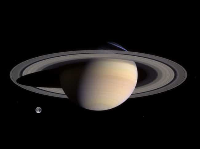 Earth Vs. Saturn is listed (or ranked) 1 on the list How Does The Earth Measure Up To The Rest Of The Galaxy?