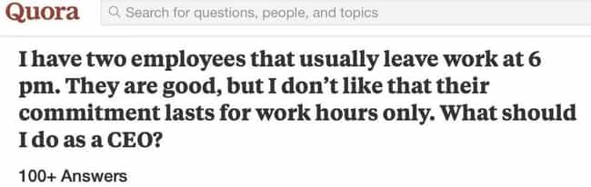 Seems Like A Healthy Wor... is listed (or ranked) 5 on the list 19 Questions On Quora That Probably Should Have Been Kept To Themselves