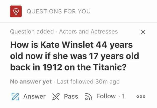 The Math Just Doesn't Ad... is listed (or ranked) 6 on the list 19 Questions On Quora That Probably Should Have Been Kept To Themselves