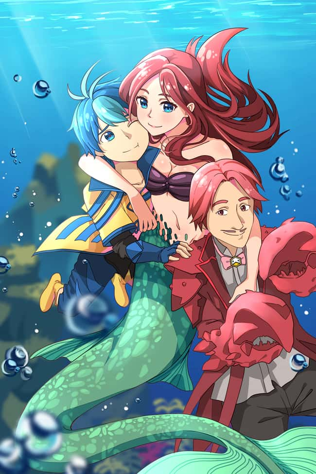 The Little Mermaid #2 is listed (or ranked) 13 on the list This Artist Creates Anime Versions of Disney Characters