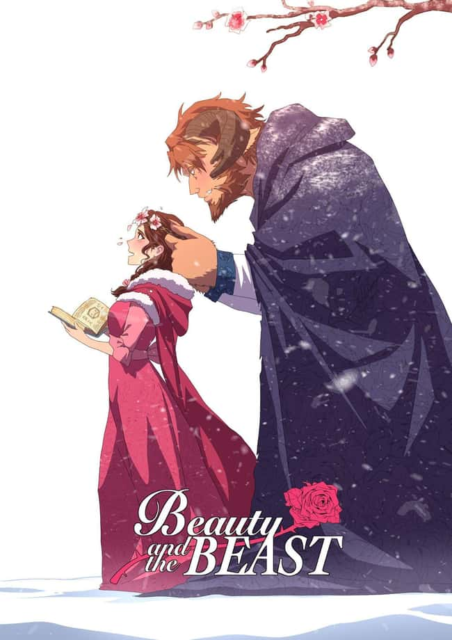 Beauty And The Beast Movie Pos is listed (or ranked) 7 on the list This Artist Creates Anime Versions of Disney Characters