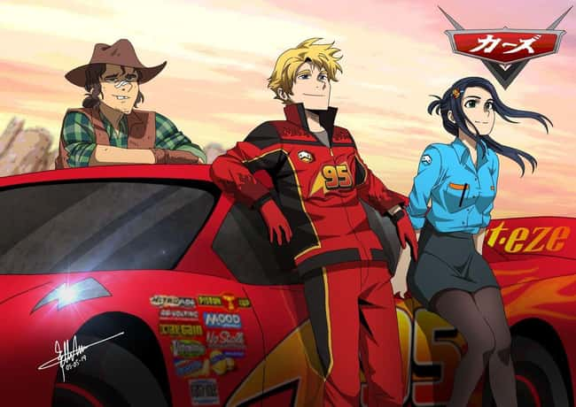 Cars #2 is listed (or ranked) 14 on the list This Artist Creates Anime Versions of Disney Characters