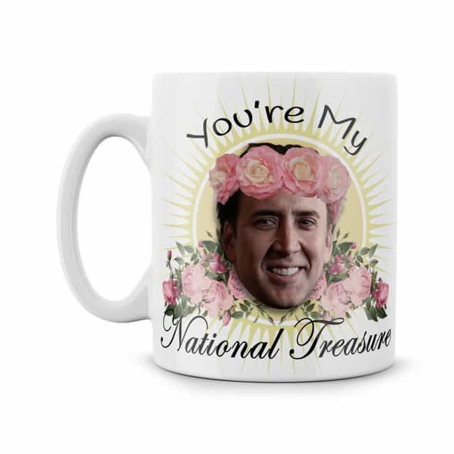 Coffee Mug is listed (or ranked) 1 on the list 16 Nicolas Cage Products That Bring Us One Step Closer To World Peace