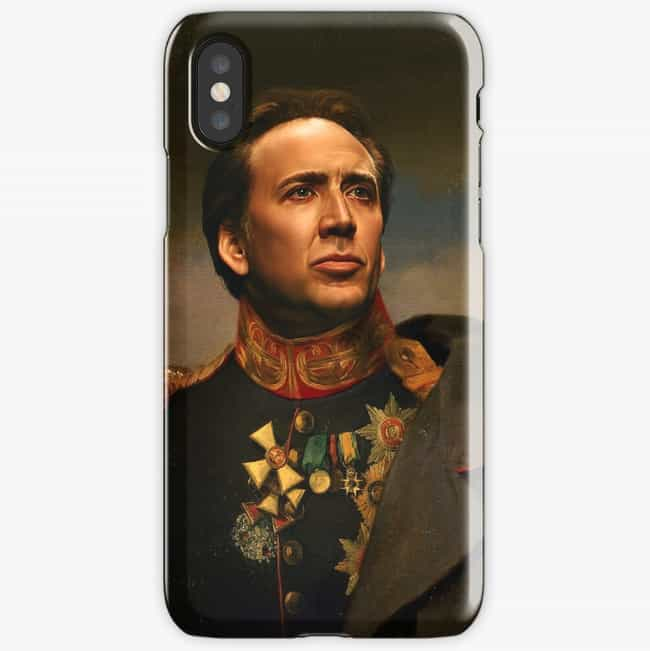 iPhone X Case is listed (or ranked) 3 on the list 16 Nicolas Cage Products That Bring Us One Step Closer To World Peace