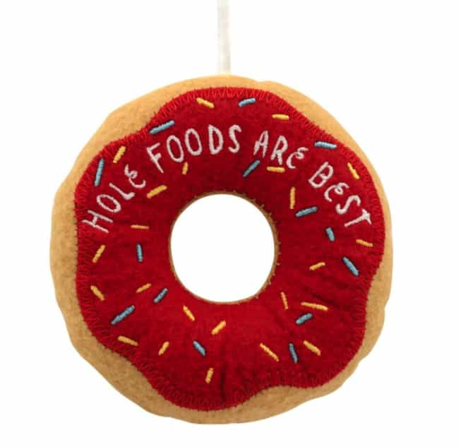 Hole Foods is listed (or ranked) 4 on the list Very Specific Hallmark Christmas Ornaments We Can't Believe Actually Exist
