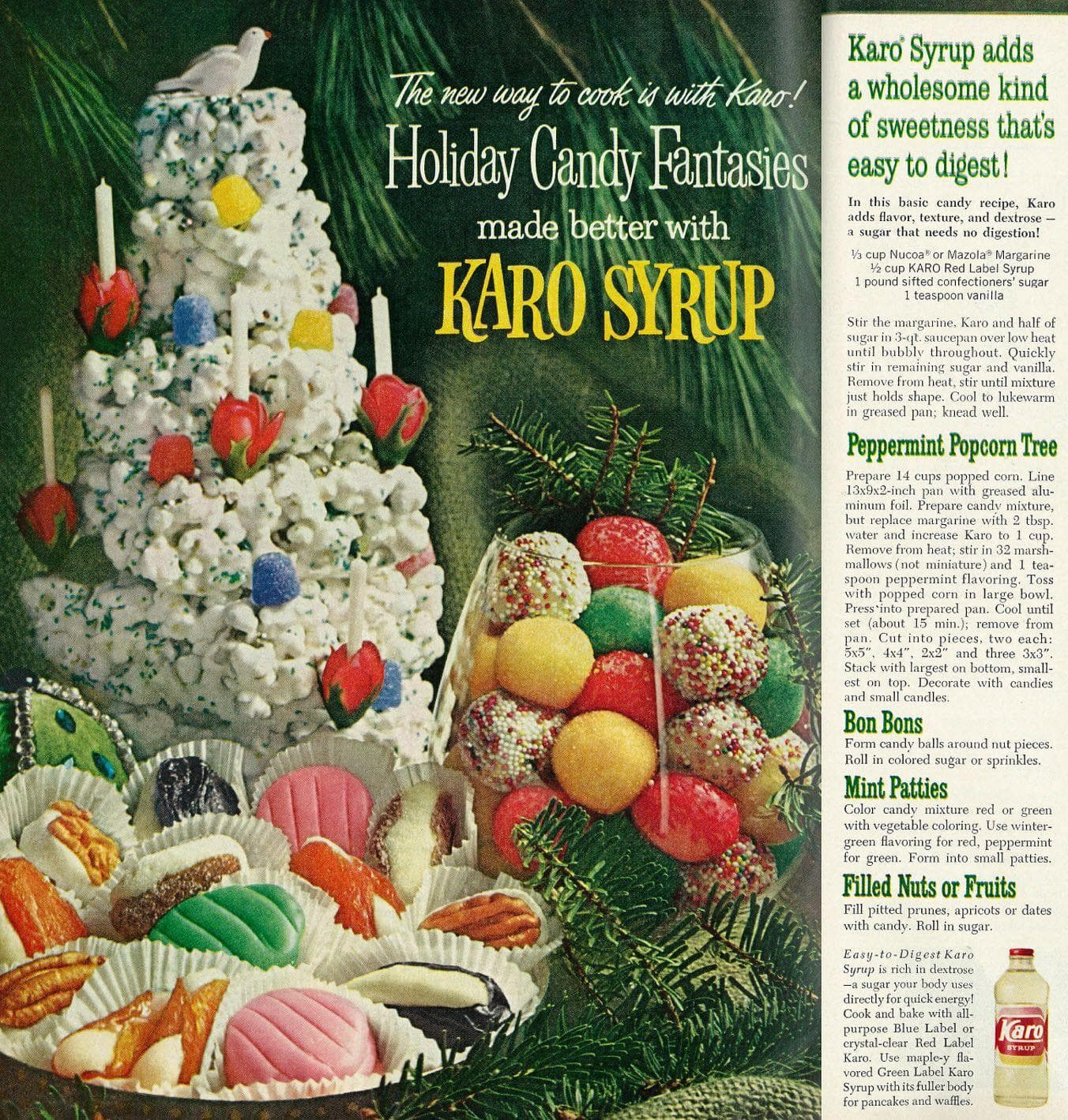 Peppermint Popcorn Tree on Random Weird Vintage Foods You'd Love At Your Holiday Party