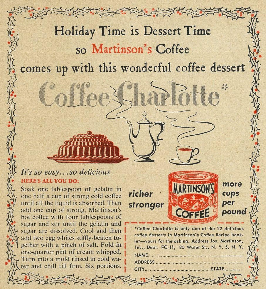 Coffee Charlotte on Random Weird Vintage Foods You'd Love At Your Holiday Party