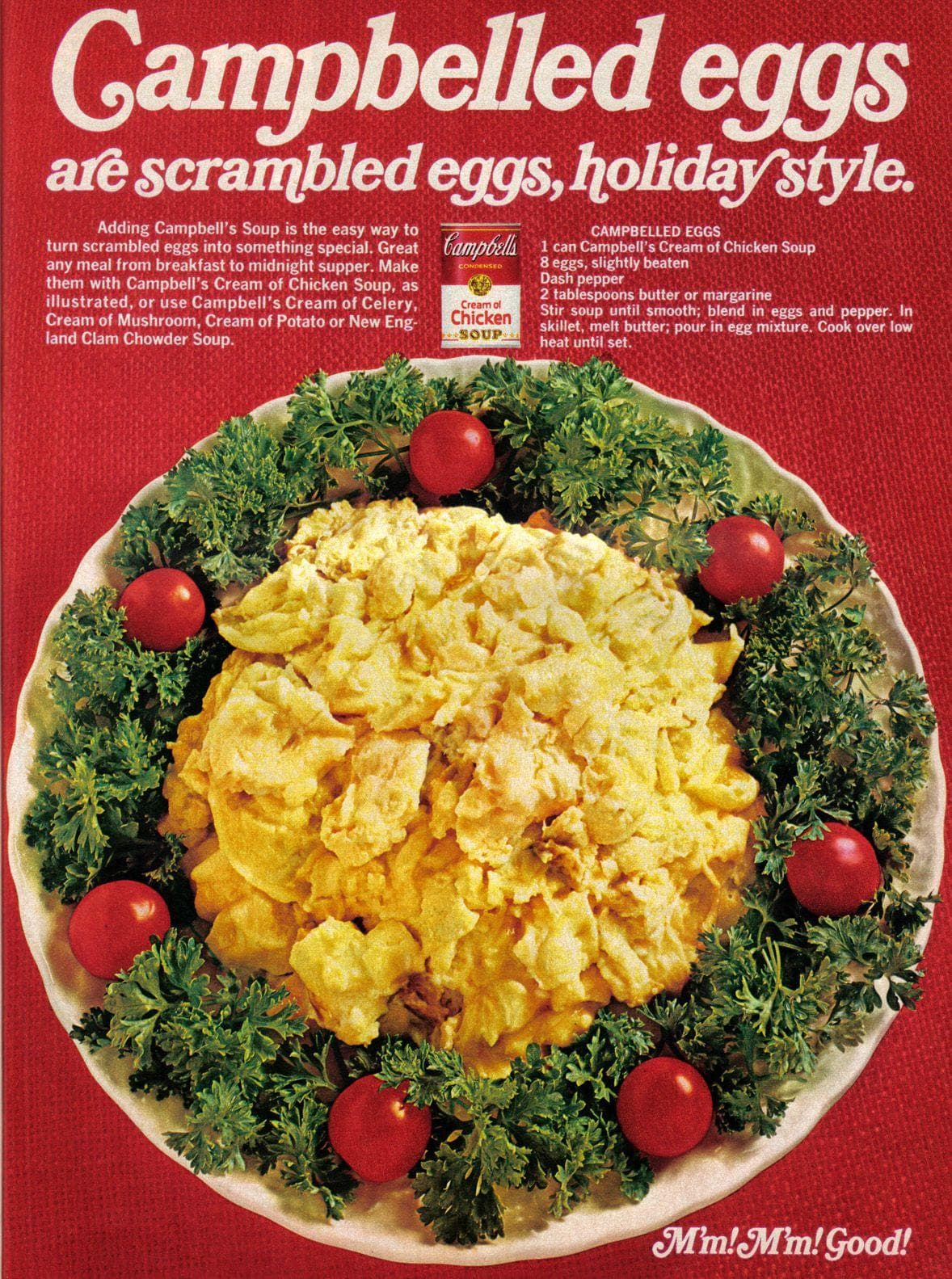 Campbelled Eggs on Random Weird Vintage Foods You'd Love At Your Holiday Party