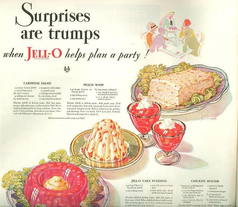 Jell-O Chicken Mousse on Random Weird Vintage Foods You'd Love At Your Holiday Party