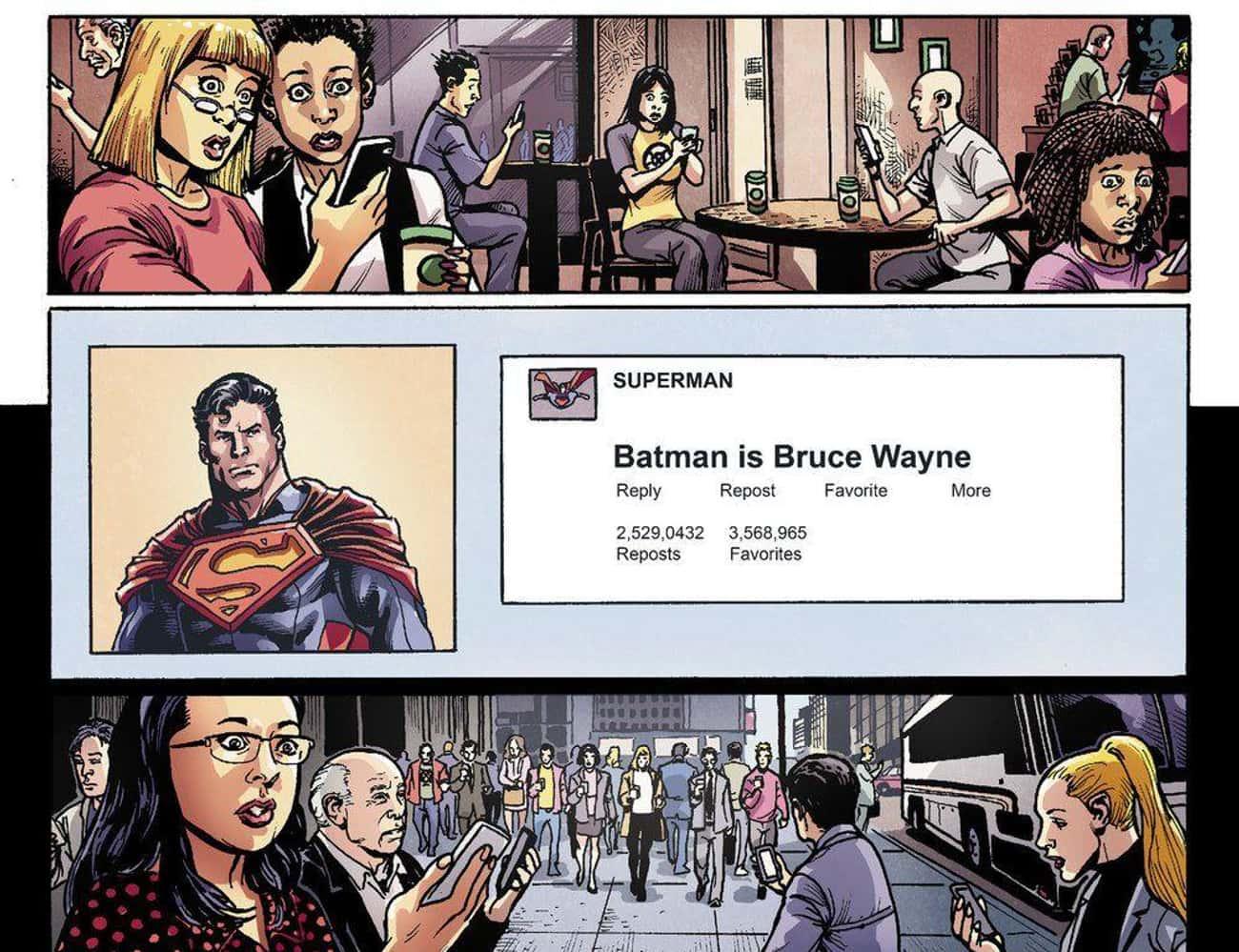 Superman Outs Batman's Secret Identity On Social Media In 'Injustice: Gods Among Us' #10
