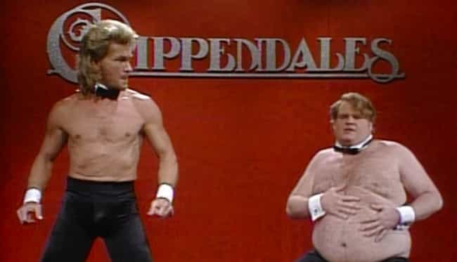 'As Funny As That Sketch... is listed (or ranked) 2 on the list What The 'Saturday Night Live' Staff Thinks Of The Chris Farley 'Chippendales' Sketch