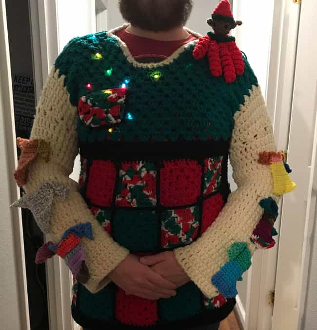 A Lot Of Ugly Going On H... is listed (or ranked) 2 on the list 27 Ugly Christmas Sweaters That Make The Holiday Hideous