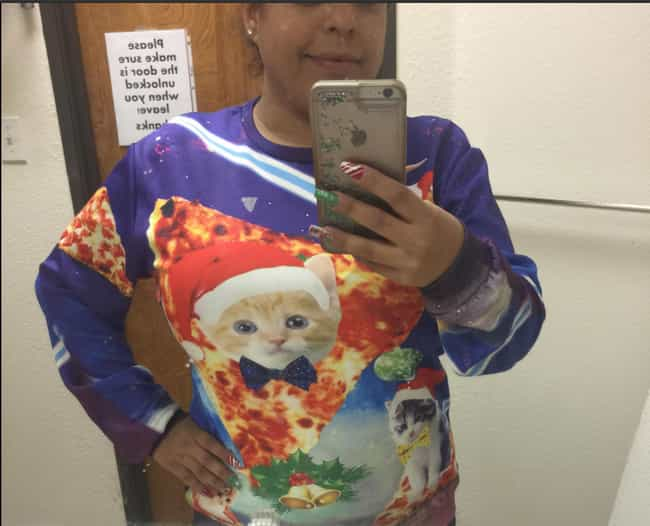 A Sweater Designed By Th... is listed (or ranked) 3 on the list 27 Ugly Christmas Sweaters That Make The Holiday Hideous