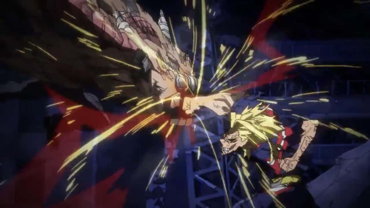 All Might Has His Final Battle is listed (or ranked) 3 on the list 18 Extremely Heroic Anime Moments That Deserve Recognition