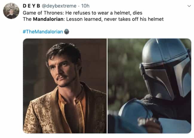 Lesson Learned is listed (or ranked) 3 on the list 27 Of The Funniest Reactions To 'The Mandalorian' Season Finale