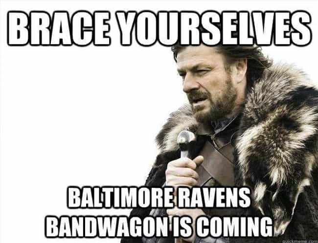 Playoff Season is listed (or ranked) 4 on the list The Funniest Baltimore Ravens Memes For NFL Fans