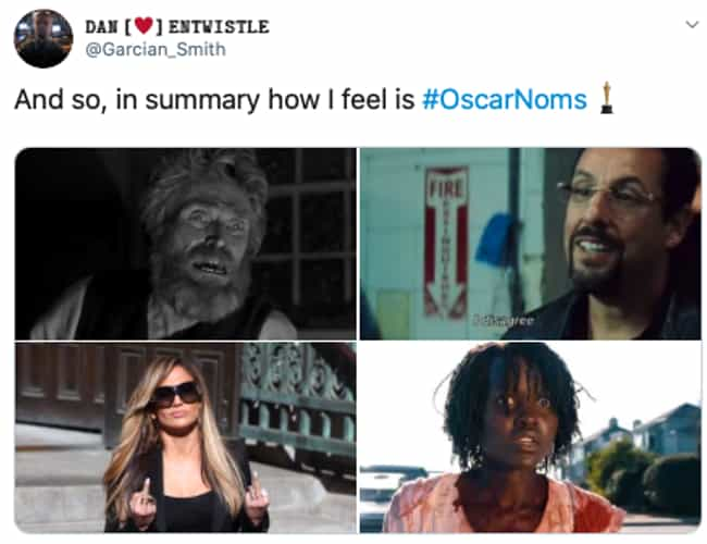 'In Summary...' is listed (or ranked) 3 on the list Oscar-Worthy Reactions To The 2020 Academy Award Nominations